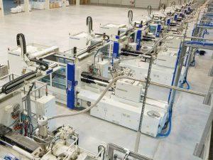 Atelier de presses à injecter