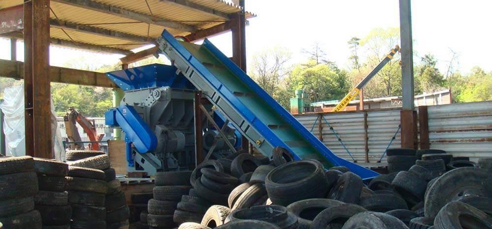 Broyage primaire pour le recyclage de pneumatiques