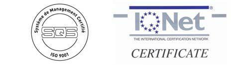 Certifié ISO 9001 par l'agence IQnet