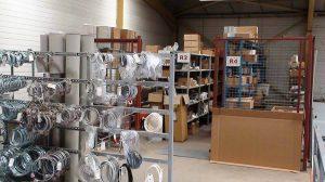 Zone de stockage de pièces détachées